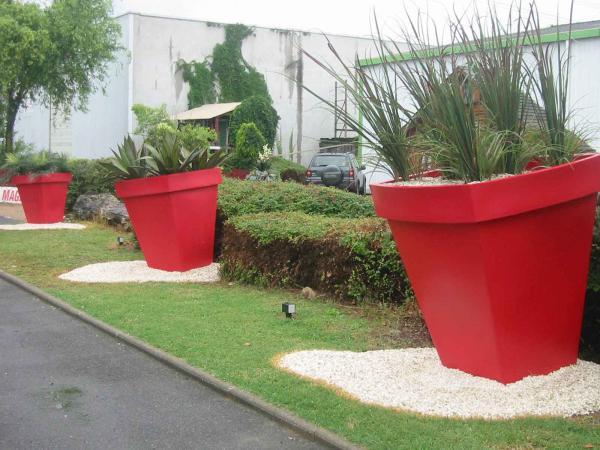 Pot geant coquelicot carr 120 l acodis devis for Pot exterieur geant