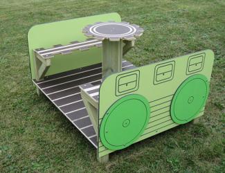 wagon table et bancs