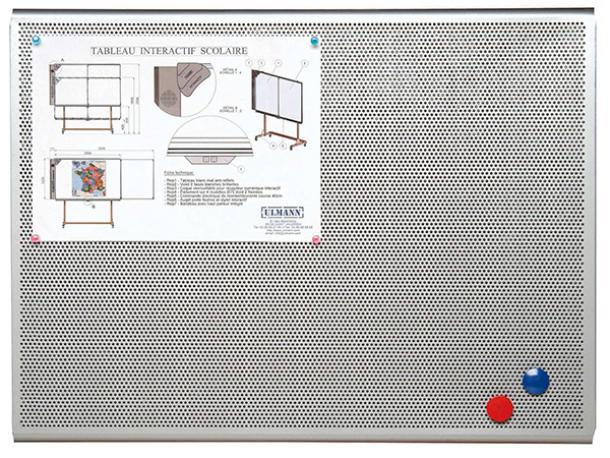 tableau d 39 affichage perfor aimant 450 x 600 4a4 acodis devis panneau affichage. Black Bedroom Furniture Sets. Home Design Ideas