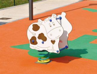 jeu sur ressort vache - 1/12 ans
