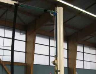 poteaux de volley extremite scolaire acier (la paire)