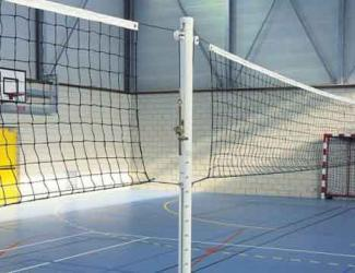 poteau de volley extremite scolaire aluminium (la paire)