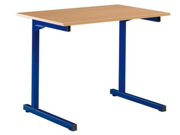 Table estrade fixe 2 places 130 x 50 cm acodis devis for Table exterieur 2 places
