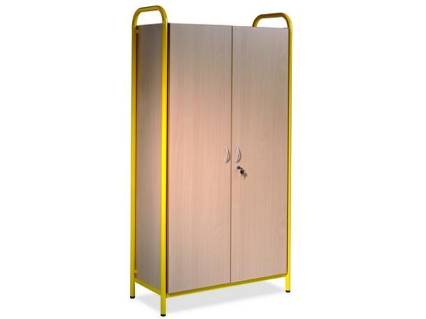 Bibliotheque haute avec portes acodis devis mobilier - Bibliotheque avec portes ...