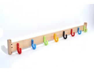patères protect sur lisse bois - 8 crochets simples
