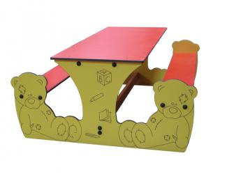 table rectangle ourson