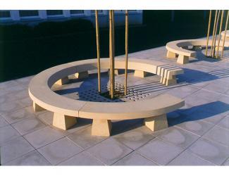 banquette amphi - courbe c
