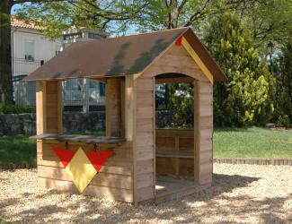 cabane chalet benoit - bois - 3/8 ans