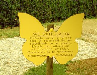 panneau information coliade - papillon