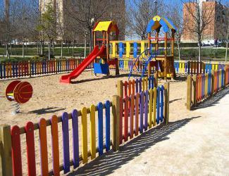 cloture de parc colore l 2m- lisses et barreaux