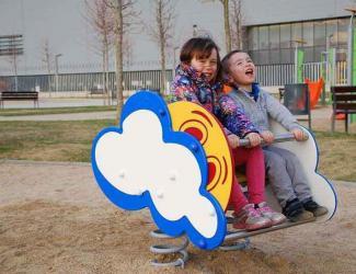 jeu sur ressort nuage - 1/12 ans