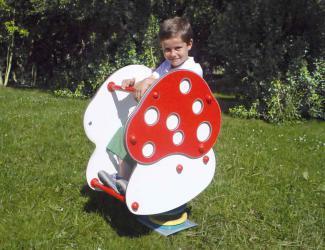 jeu sur ressort champignon - 1/12 ans