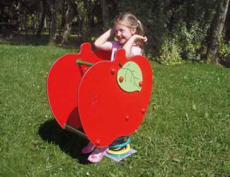 jeu sur ressort pomme - 1/12 ans
