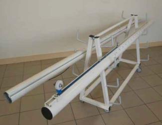 chariot de transport poteaux de volley-ball