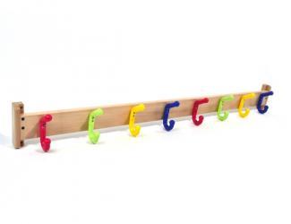 patères protect double sur lisse bois - 8 crochets double