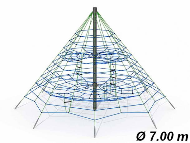 pyramide araignee gypsie - ø 7 m - 4/16 ans