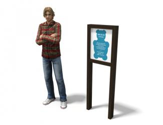panneau d'information plastique recycle