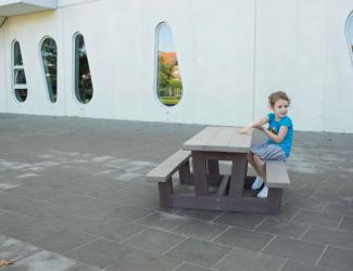 table pique nique kids gp71-180 en plastique recycle