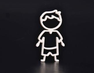 """picto 3d simple """"garçon"""""""