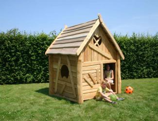 cabane d'hansel et gretel en robinier - 2/8 ans
