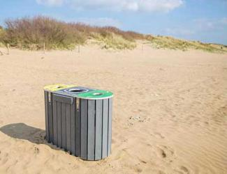 "station de tri flux ""catamaran"" - tri selectif - plastique recycle"
