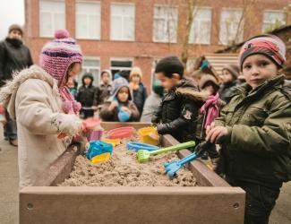 bac a sable mobile en plastique recyclé gp36 - h 60