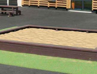bac a sable line en plastique recycle - - 1 an et +