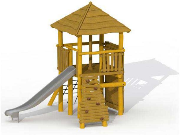 la tour magique en robinier sans parcours d'équilibre - 4/12 ans