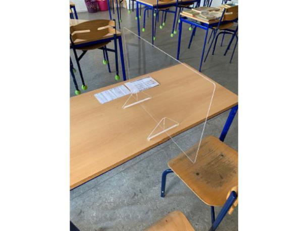 paroi de protection en plexiglass - 418x600x200 mm