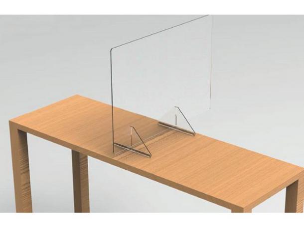 paroi de protection en plexiglass - 600 x 800 x 200 mm