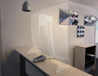 vitre de protection mobile - 805x1005x275 mm
