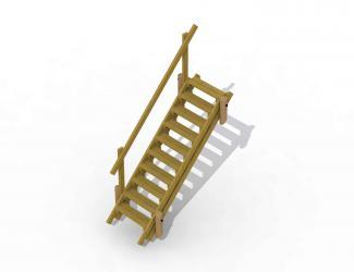 escalier pour butte