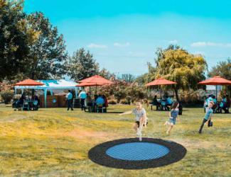 trampoline coloree 150 rond