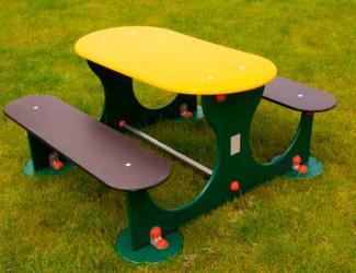 table banquettes miami - ovale - 6 pl