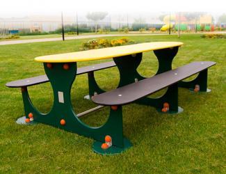 table banquettes miami - ovale - 10 pl