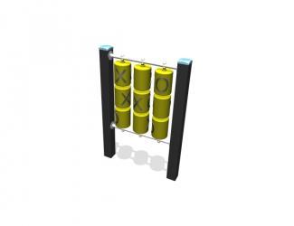 tic tac toe poteaux plastique recycle 1/8 ans
