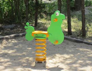 jeu ressort grenouille - poly - 1 pl - 2/6 ans