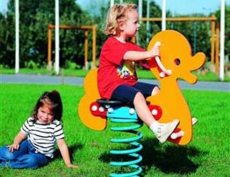 jeu ressort canard - poly - 1 pl - 2/6 ans