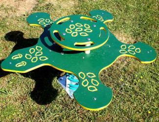 jeu ressort carapie - tortue - 5 pl - 2/6 ans