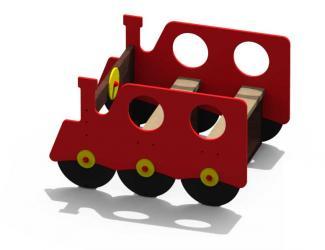 petite locomotive rouge plastique recycle gp 25a 1/12 ans