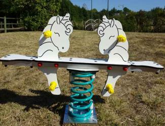 jeu sur ressort licornes - 2 places - 1/6 ans