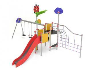 """structure """"le petit jardin et sa balancoire"""" acier - 3 ans et +"""