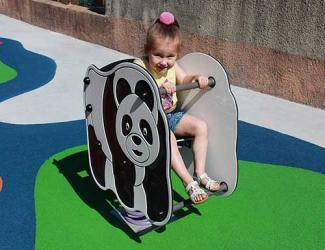 jeu sur ressort panda - 1/12 ans
