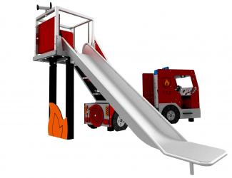 structure camion de pompier - gl inox - 1/8 ans