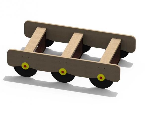 train axel wagon beige en plastique recycle gp 25bb 1/12 ans