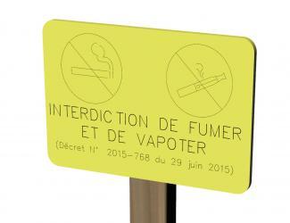 panneau d'interdiction de fumer et vapoter