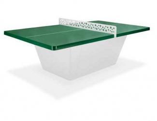 table ping pong square filet anti vandalisme - vert